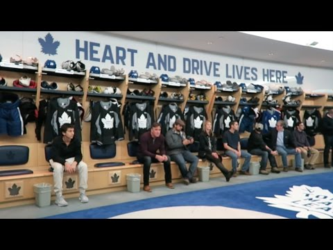Tour of the Toronto Maple Leafs practice facility