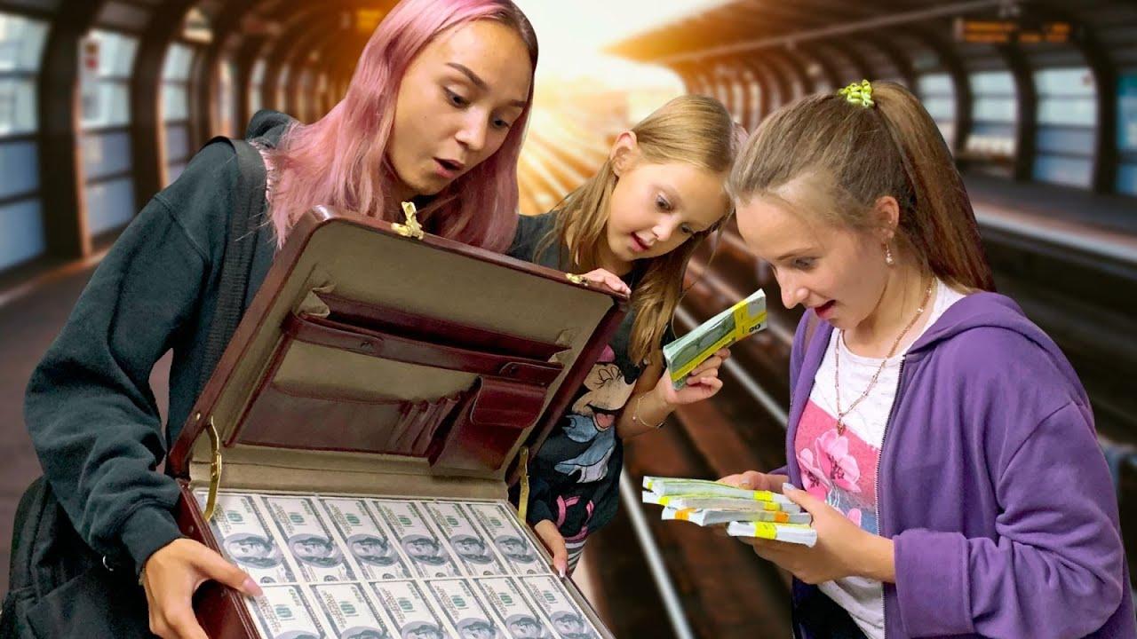ОГРАБИЛИ БАНК! Кузе нужна помощь! Девочки решили помочь найти Миллион! Квест успеть за час!