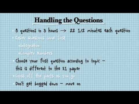 Extension 2 Maths: Tips for doing the exam - YouTube