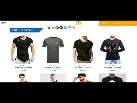 How To Design A Full E-Commerce Website-in-html/css  2019