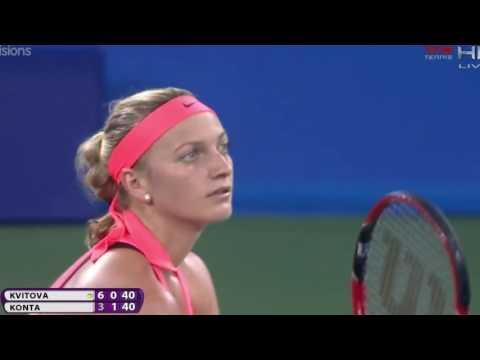 Petra Kvitova vs Johanna Konta Wuhan Open 2016 Highlights HD