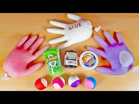 Mixing Slime Ingredients with Store Bought Slime and Clay - Will it Slime?
