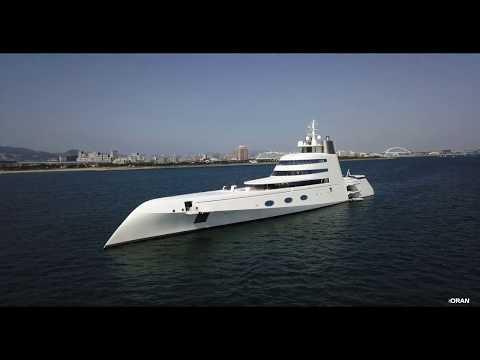 世界で23番目に大きなヨット Motor Yacht A DJI MavicPro & Phantom4P