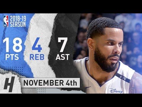 D.J. Augustin Full Highlights Magic vs Spurs 2018.11.04 - 18 Pts, 7 Ast, 4 Rebounds!
