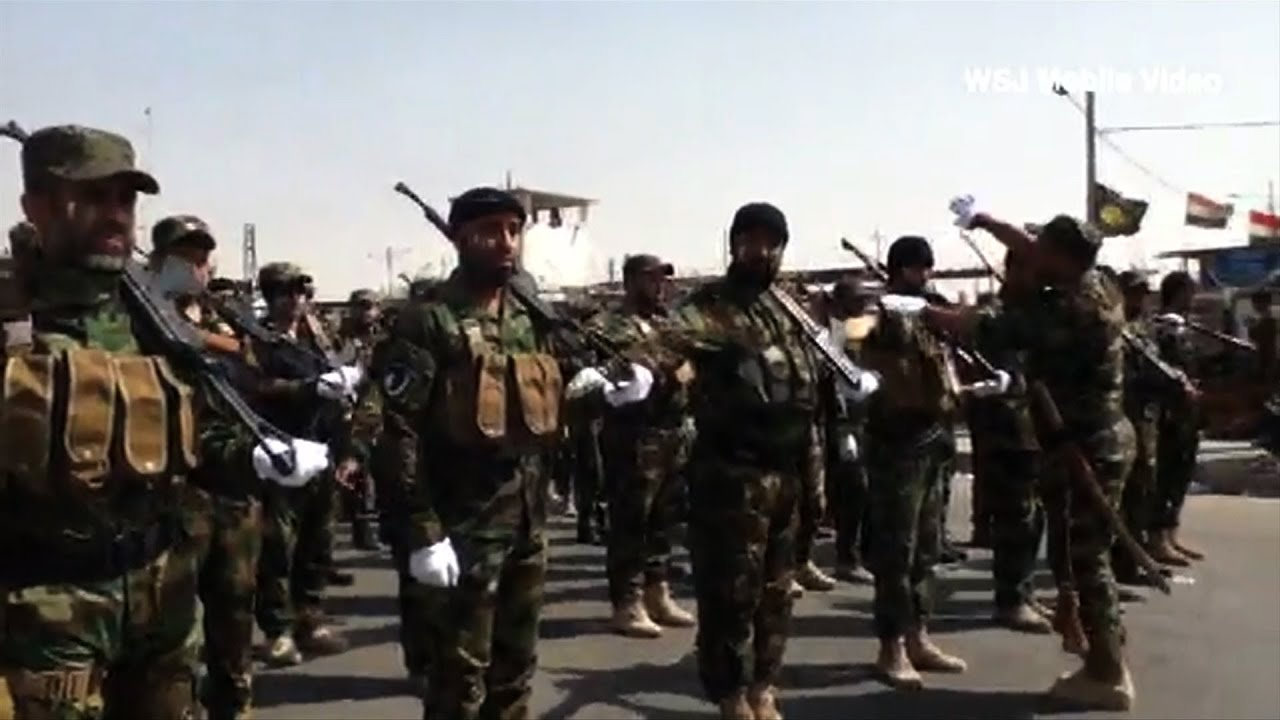 Iraq S Mahdi Army Forces Hold Rally In Sadr City Youtube