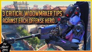 WIDOWMAKER GUIDE: 3 CRITICAL WIDOWMAKER TIPS VS. EACH OFFENSE HEROES! [OVERWATCH]