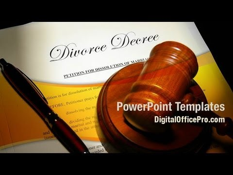 Divorce Decree PowerPoint Template Backgrounds - DigitalOfficePro - divorce templates