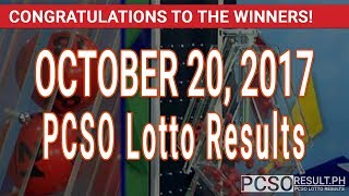 PCSO Lotto Results Today October 20, 2017 (6/58, 6/45, 4D, Swertres & EZ2)