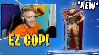 "Tfue Reacts to *NEW* ""Royale Jonesy"" Skin! (Default King Concept) 