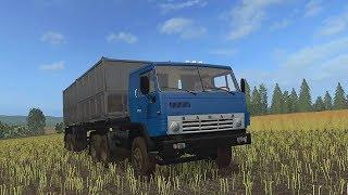 КамАЗ с полуприцепом, мультик-игра про грузовик для детей. #Автошка