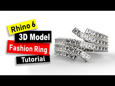 Offset Fashion Ring 3D Model in Rhino 6: Jewelry CAD Design Tutorial #90 thumbnail