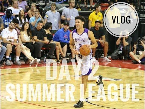 Day 2 NBA Summer League Vlog: Lonzo Ball Dunk, Floyd Mayweather & Ben Simmons