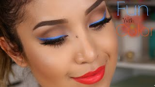 Makeup Tutorial: Summer Time Fun with Color Liners