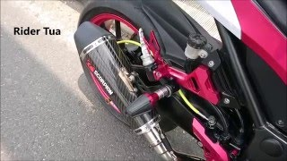 Kawasaki Ninja 250FI Knalpot Scorpion Red Power Full System