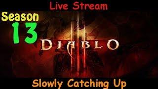 Slowly Catching Up - EU Demon Hunter - Season 13 - Diablo 3 live stream pve gameplay