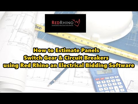 How to Estimate Panels Switch Gear & Circuit Breakers