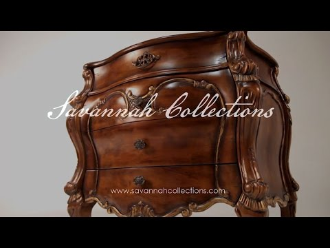Victorian Furniture Nightstand by Savannah Collections Marge Carson