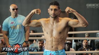 Amir Khan vs. Chris Algieri Full Video-COMPLETE Khan media workout