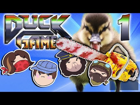 Duck Game: Quack Attacking! - PART 1 - Steam Rolled