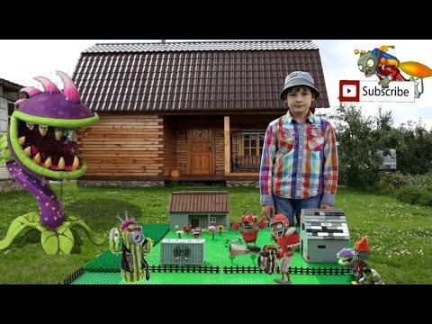 Наш огород в реальной жизни - Minecraft MOD Plants Vs Zombies real life (Челлендж - Построй из Лего)