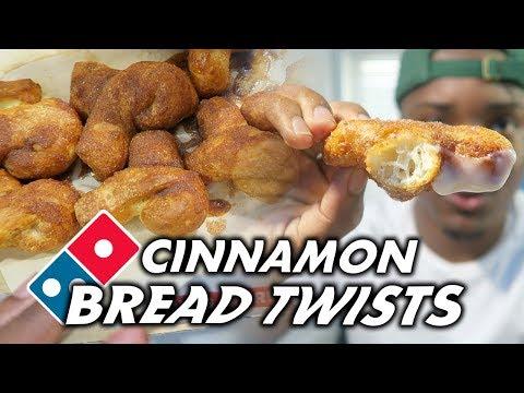 Dominos Cinnamon Bread Twists Taste Test/Review!