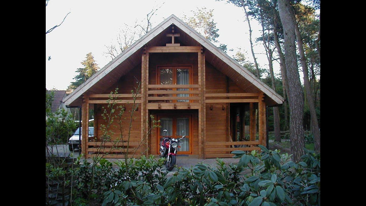 Recreatiewoning te koop veluwe gelderland eigen grond in bos youtube - Houten huis ...