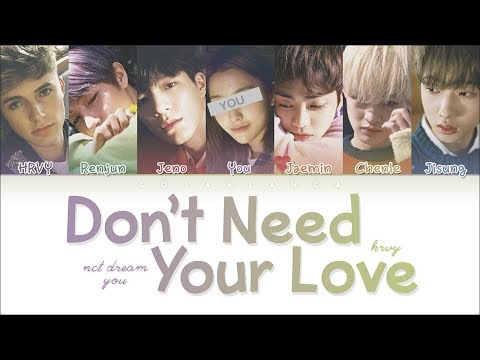 Download Lagu NCT DREAM X HRVY 「Don't Need Your Love」 (KARAOKE Ver.) (Color Coded Lyrics Han|Rom|Eng) MP3
