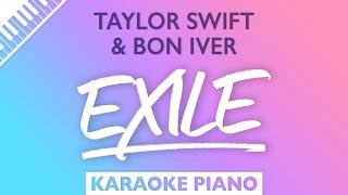 Taylor Swift, Bon Iטer - exile (Karaoke Piano)