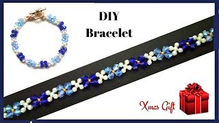 xmas gift for my daughter. how to make  beaded bracelet