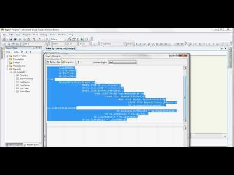 Microsoft Visual Studio Report Building - Build A Simple Sales Report