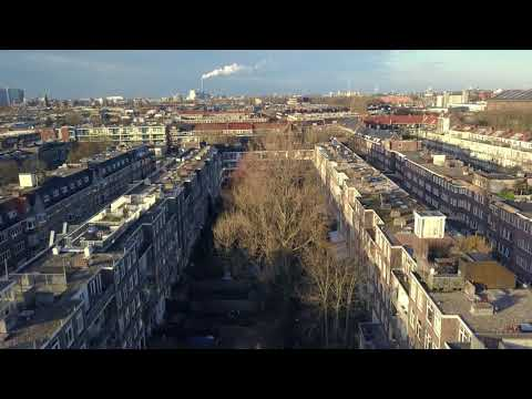 Drone footage of Amsterdam West