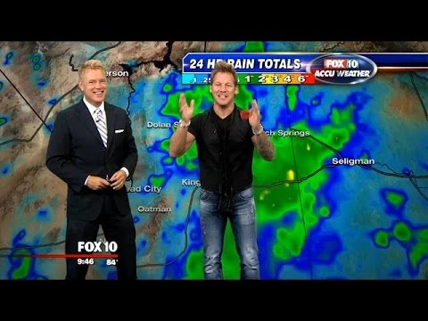 Wrestler Chris Jericho takes over FOX 10's weather