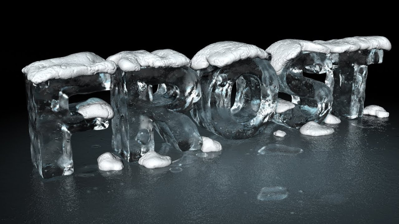Speed art create a 3d ice text effect with modo and photoshop youtube baditri Images
