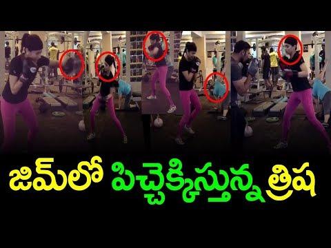 Actress Trisha Krishnan GYM Workout Video...