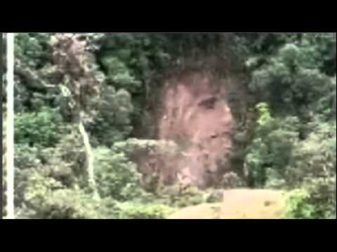 Face of Jesus appeared after a landslide on the hill in San Francisco, Putumayo, Colombia
