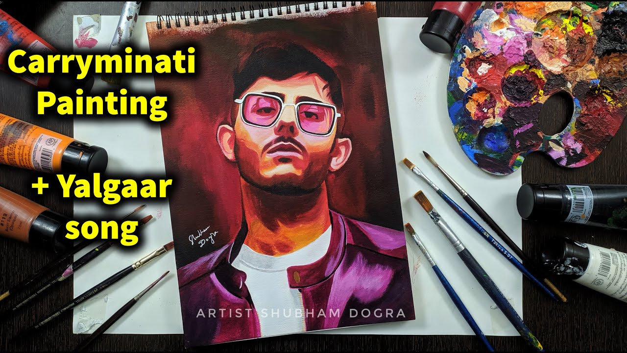 Yalgaar Carryminati Painting 🔥 Best Carryminati drawing / painting !! @CarryMinati