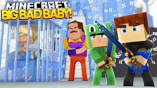 Minecraft BIG BAD BABY - THE NEIGHBOUR NEIGHBOUR TRIES TO KILL ELSA