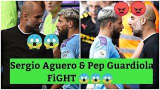 Sergio Aguero fight with Pep Guardiola   Manchester city vs Tottenham