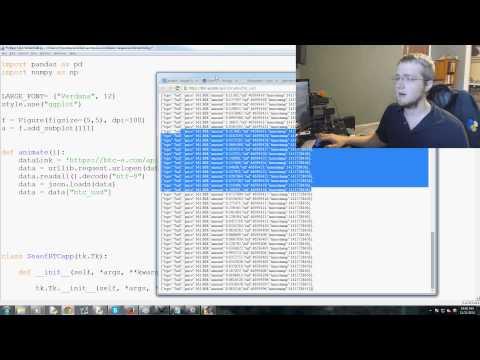 Plotting Live Bitcoin Price Data - Tkinter GUI Development Series P. 9