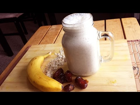 Healthy Breakfast Smoothie (Oats,Banana,Dates)
