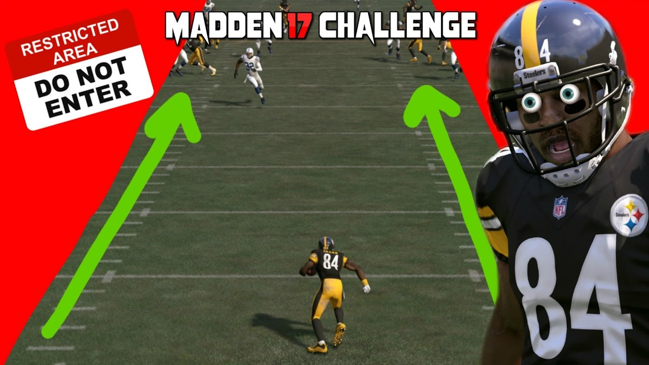Can Antonio Brown Return a Punt inside of the HASHMARKS?! MADDEN 17 CHALLENGE