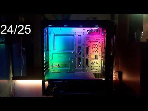 25 эффектов светодиодной ленты Ws2812b в корпусе ПК (Arduino/библиотека FastLed)