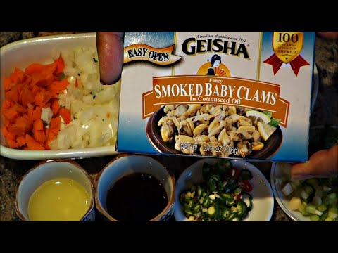 How To Cook Clams | Smoked Clams | Baby Clams In Easy Steps