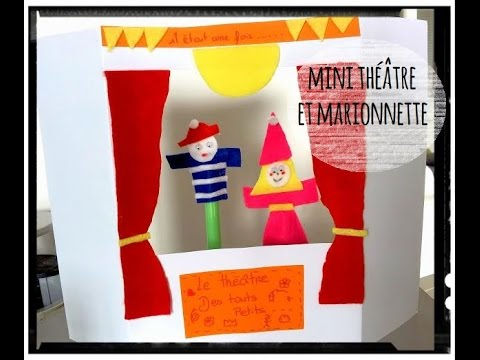 Activit Manuelle Mini Th Tre Et Marionettes De Doigt Youtube