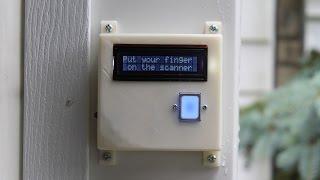 fingerprint scanning garage door opener
