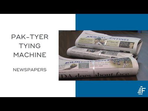 newspaper tying machine