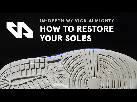 How To Unyellow & Restore Midsoles With Vick Almighty