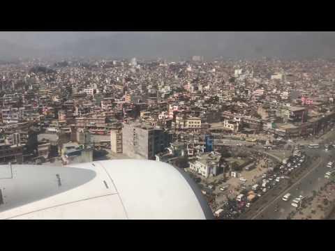 Aeroplane Landing from the top on Kathmandu Valley