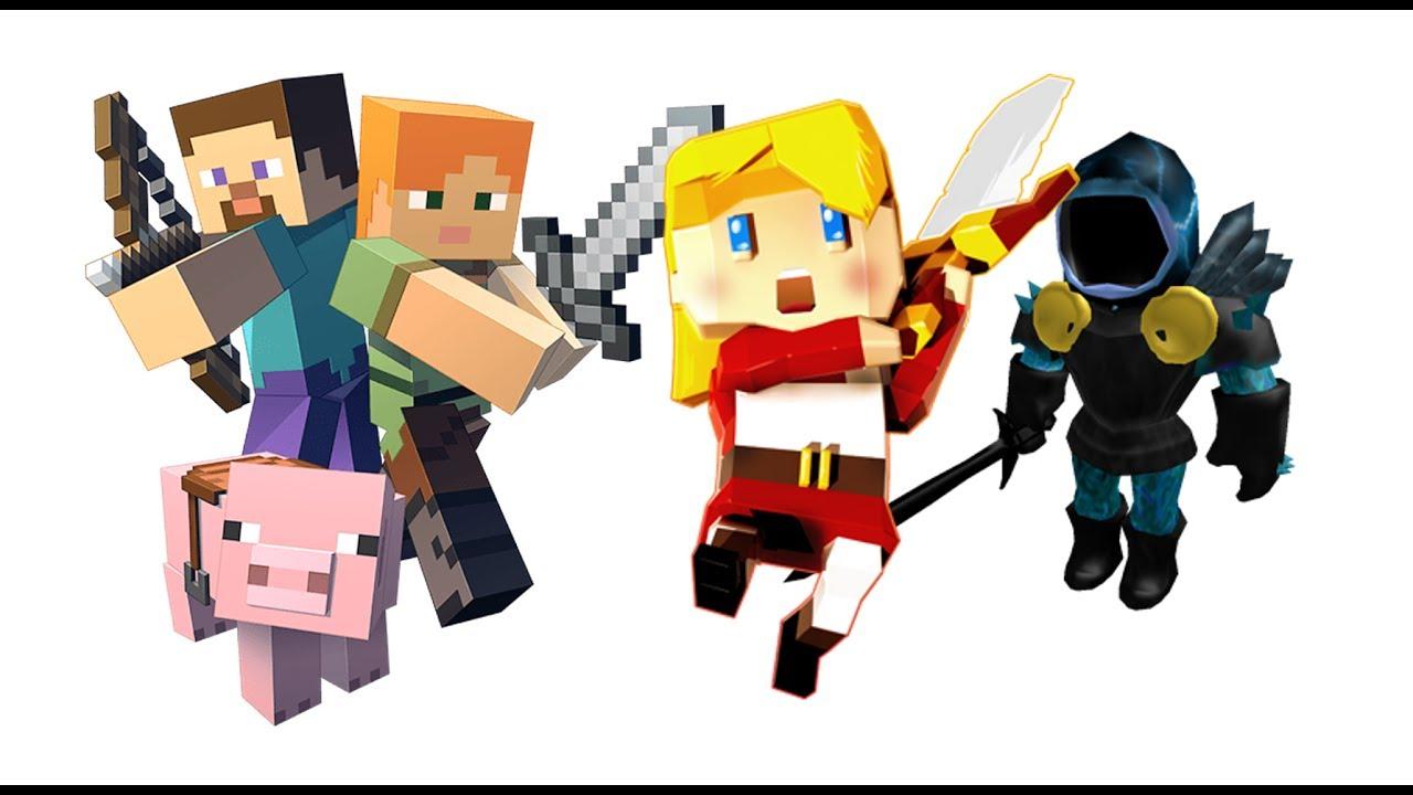 Roblox Vs Minecraft Vs Kogama Youtube