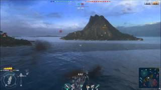 World of Warships アメリカ駆逐艦Clemsonで空母2隻を駆逐する